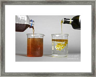 Dissolution Test Framed Print by Photo Researchers, Inc.