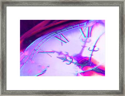 Distorted Time Framed Print