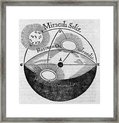 Distortion Of The Sun, 17th Century Framed Print by Middle Temple Library