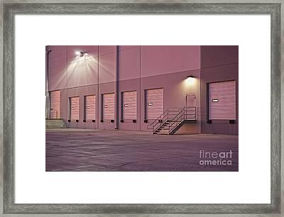 Distribution Center Bay Doors Framed Print