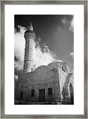 Djami Kabir Mosque In Paphos Republic Of Cyprus Europe Framed Print by Joe Fox