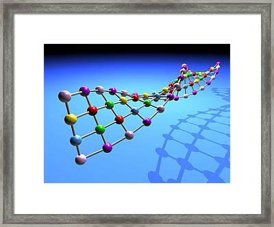 Dna Structure Framed Print