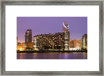 Docklands Apartments Framed Print by David French