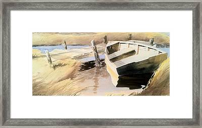 Docs Old Rowboat Framed Print by Don F  Bradford