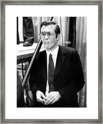 Donald Rumsfeld, As White House Chief Framed Print