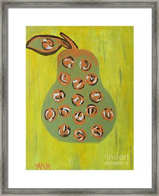 Don't Eat The Pear Framed Print by Marie Bulger
