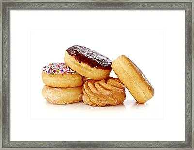 Donuts Framed Print by Elena Elisseeva