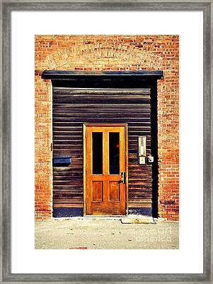 Door Framed Print by HD Connelly