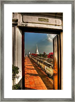 Door To Enlightenment Framed Print by Adrian Evans