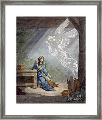 Dor�: The Annunciation Framed Print by Granger