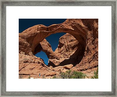 Double Arch Framed Print by Bob and Nancy Kendrick