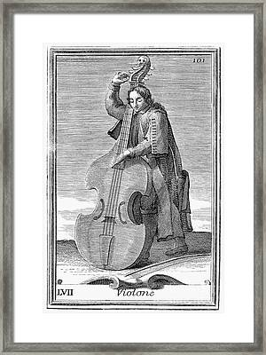 Double-bass Viol, 1723 Framed Print by Granger
