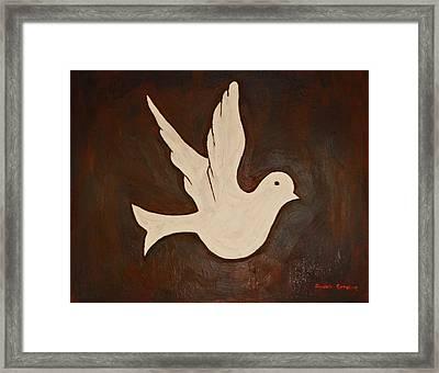 Dove Framed Print by Jeremy Cardenas