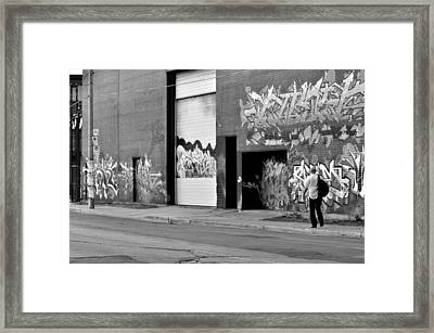 Framed Print featuring the photograph down town Toronto lake shore area  by Puzzles Shum