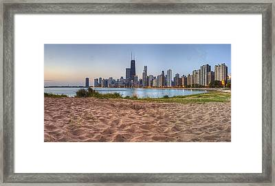 Downtown Chicago From North Beach Framed Print by Twenty Two North Photography
