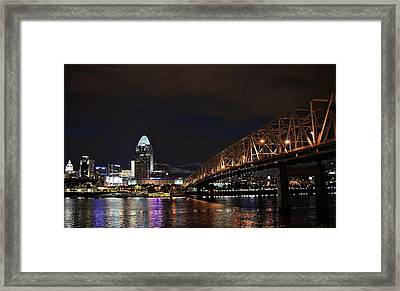 Downtown Cincinnati Framed Print by Tina Karle
