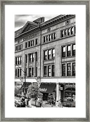 Downtown Northampton - Fitzwilly's Framed Print