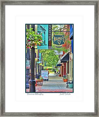 Downtown Willoughby Framed Print