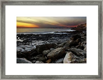 Dramatic Coastline Framed Print by Carlos Caetano