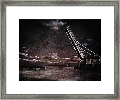 Drawbridge At Night Framed Print by Skip Nall
