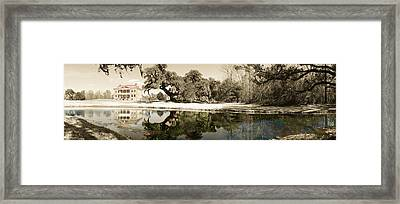 Drayton Hall Hand-colored Framed Print by Jan W Faul