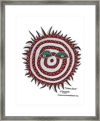 Indian Mask Framed Print by Jerry Conner