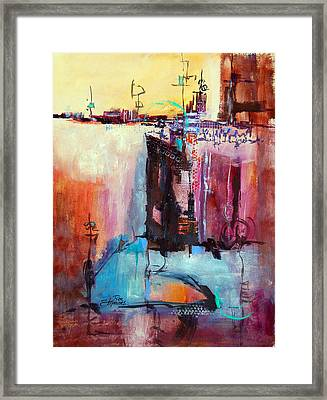 Framed Print featuring the painting Dreamscape 1 by Ron Stephens