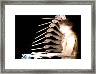 Drummer Framed Print by Ted Kinsman