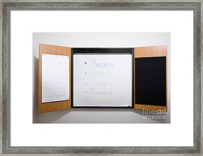 Dry Erase Board Framed Print by Andersen Ross