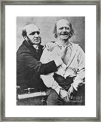 Duchenne Studying Physiognomy Framed Print by Science Source