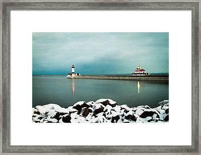 Duluth Harbor Framed Print