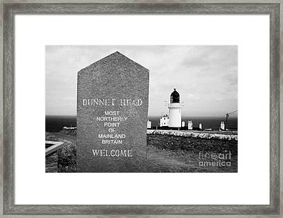 Dunnet Head Most Northerly Point Of Mainland Britain Scotland Uk Framed Print by Joe Fox