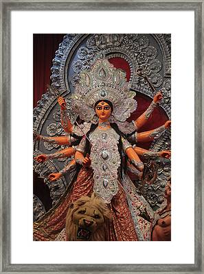 Durga Goddess 2012 Framed Print by Rajan Advani