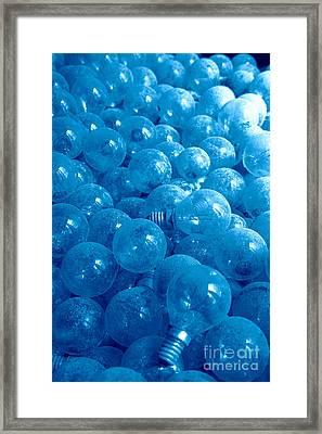 Dusty Light Bulbs Framed Print by Gaspar Avila