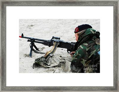 Dutch Royal Marines Taking Part Framed Print by Luc De Jaeger