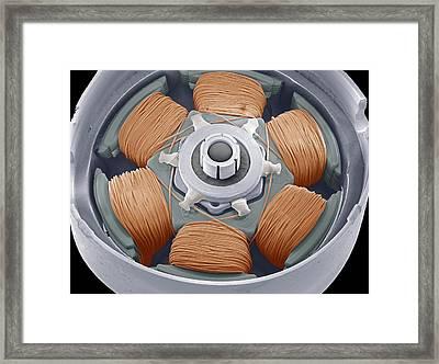 Dvd Drive Motor, Sem Framed Print by Steve Gschmeissner