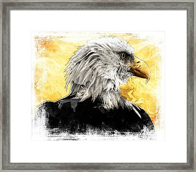 Eagle 6 Framed Print by Carrie OBrien Sibley