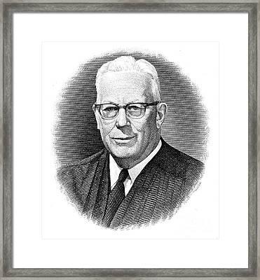 Earl Warren (1891-1974) Framed Print by Granger
