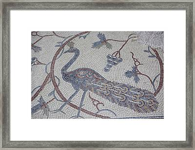 Early Christian Mosaic In The Ruins Framed Print by Taylor S. Kennedy
