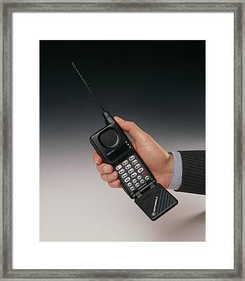 Early Mobile Phone Framed Print