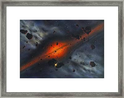 Early Solar System, Artwork Framed Print by Richard Bizley