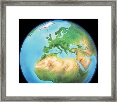 Earth, Artwork Framed Print by Gary Hincks