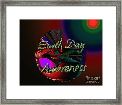 Earth Day Awareness Framed Print by Xueling Zou