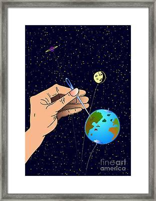 Earth Like An Inflatable Balloon Framed Print by Michal Boubin