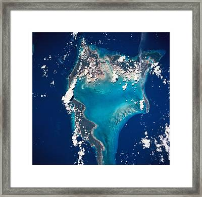Earth Viewed From Space Framed Print