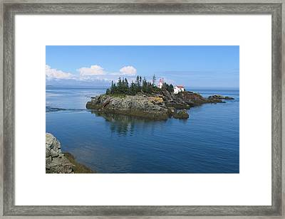 East Quoddy Lighthouse Framed Print by Bob Davis