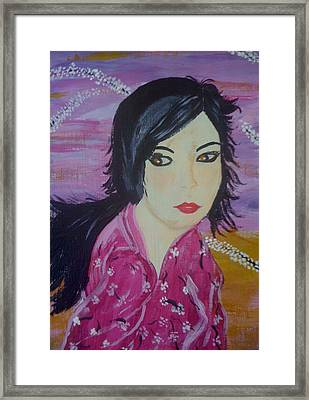 Framed Print featuring the painting Eastern Beauty by Judi Goodwin