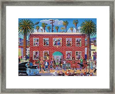 Eclectic Avenue Framed Print by Frank Strasser