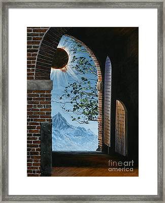 Eclipse Framed Print by Lynette Cook