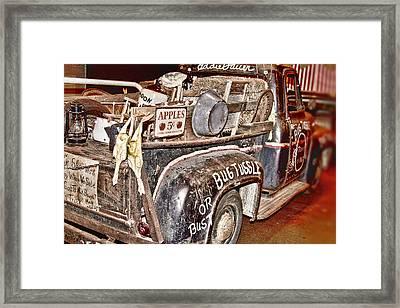 Eddie Bauer Bug Tussle Pick Up Framed Print by Douglas Barnard